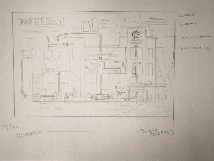 Comfort Inn initial sketch